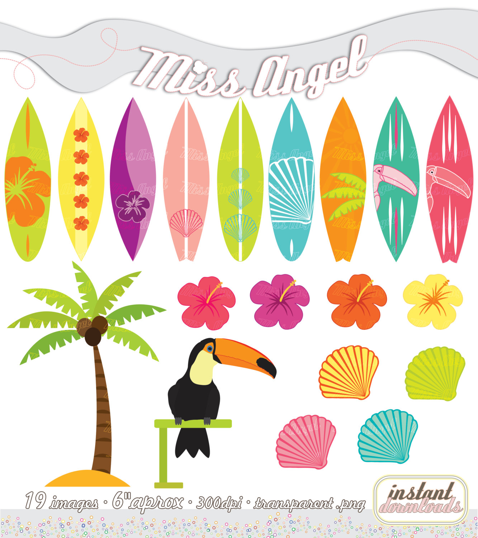 Templates  clipart surfboard Surfboards Printable Surfboards Summer SET