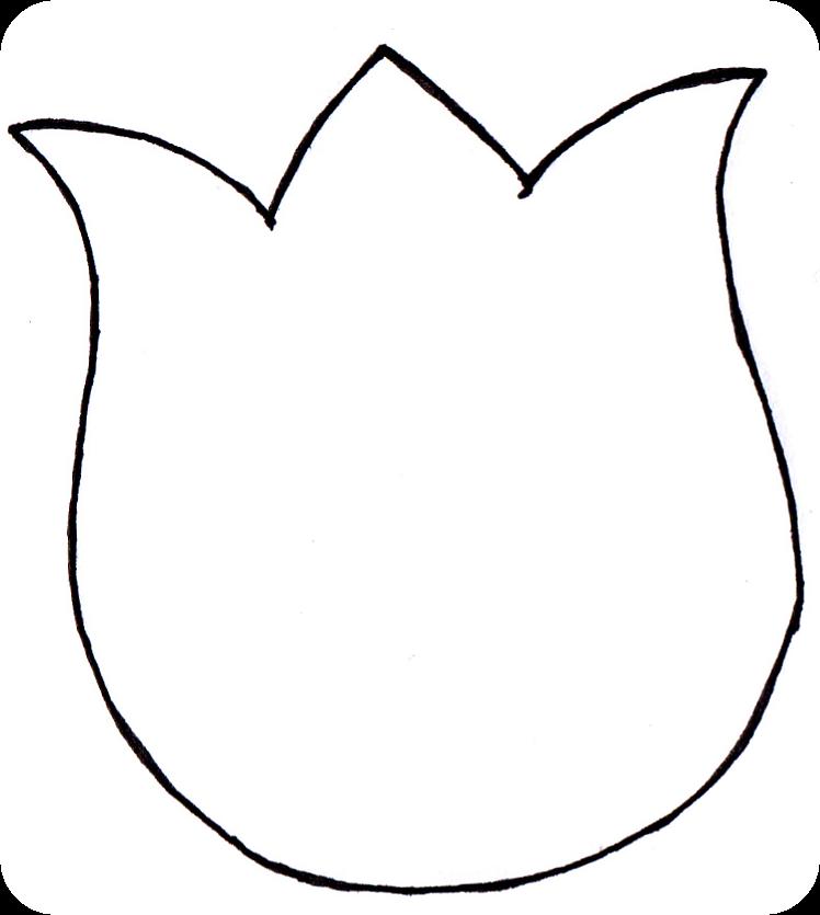 Templates  clipart tulip #6
