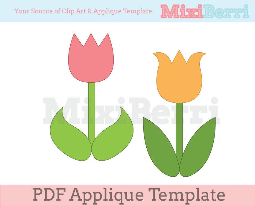 Templates  clipart tulip #9