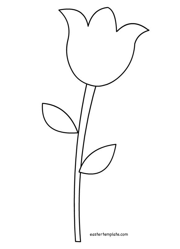 Templates  clipart tulip #10