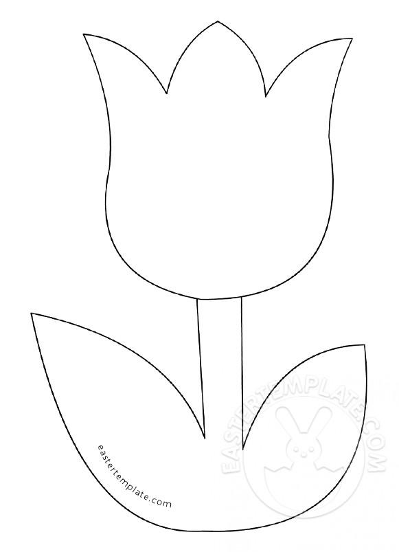 Templates  clipart tulip #8