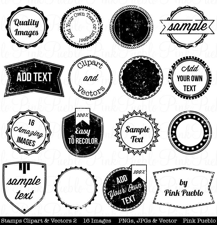 Templates  clipart vintage postage stamp Frame Clip Label Art 2