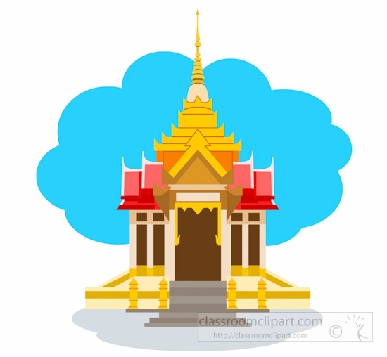 Temple clipart ancient athens Temple Thai Clipart Thailand In