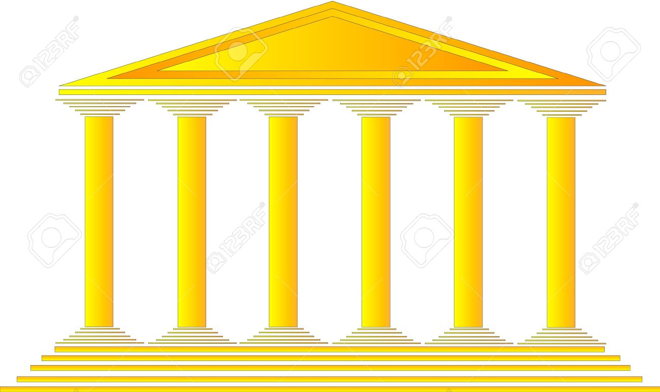 Temple clipart ancient athens On Greek White Royalty Illustration