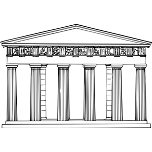 Temple clipart ancient athens Cliparts Theseum of Temple free