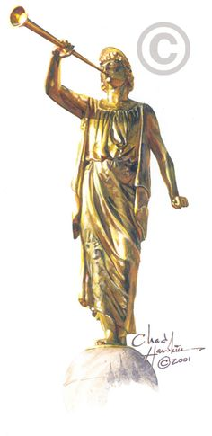 Temple clipart angel moroni Free LDS Clipart Statue Painting