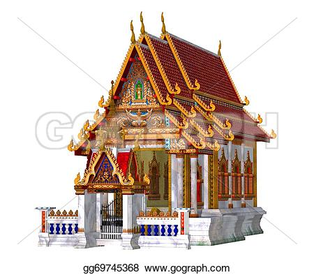 Temple clipart background Background Illustration gg69745368 white temple