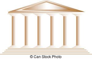 Temple clipart background Greek Illustrations illustration on