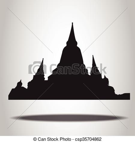 Temple clipart background  Temple Vector csp35704862 on