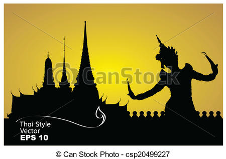 Temple clipart background  dance Illustration background with
