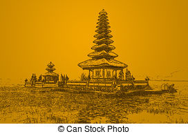 Temple clipart bali Pura  Bratan on 1
