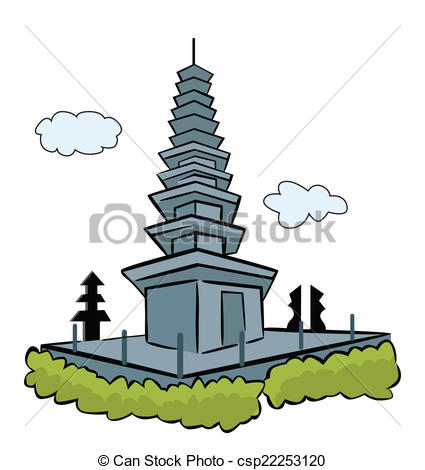 Temple clipart bali Pura pura bali Search Vector