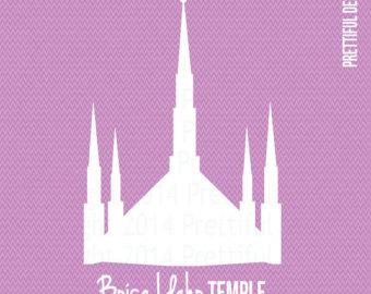 Temple clipart boise Mormon Idaho Etsy png eps