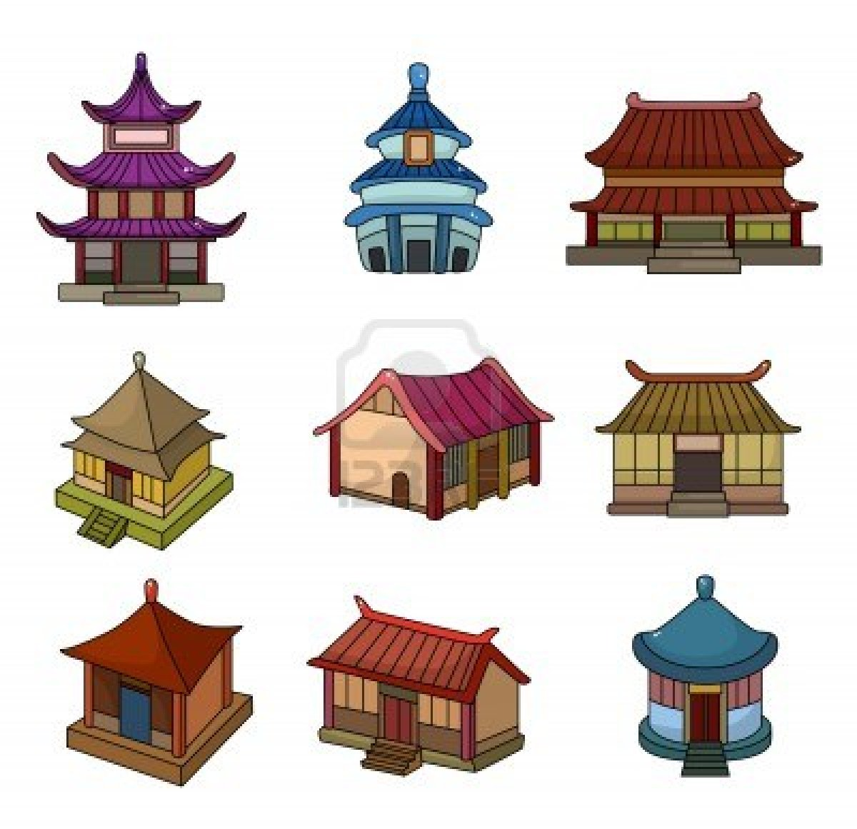 China clipart chinese building Cartoon Pinterest Icon Treehouse Set
