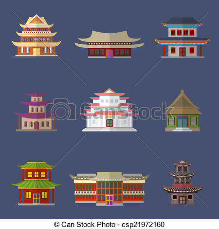 China clipart chinese building  Chinese house csp21972160 Chinese