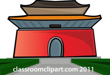 Temple clipart chinese temple  Chinese Temple Clipart