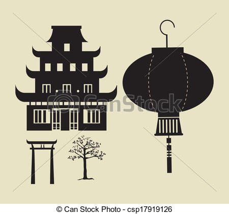 Temple clipart chinese temple Clipart 2  vector Royalty