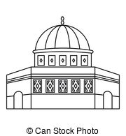 Dome clipart black and white #5