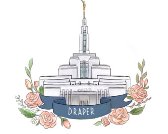 Temple clipart draper Are Etsy Mormon Day painting