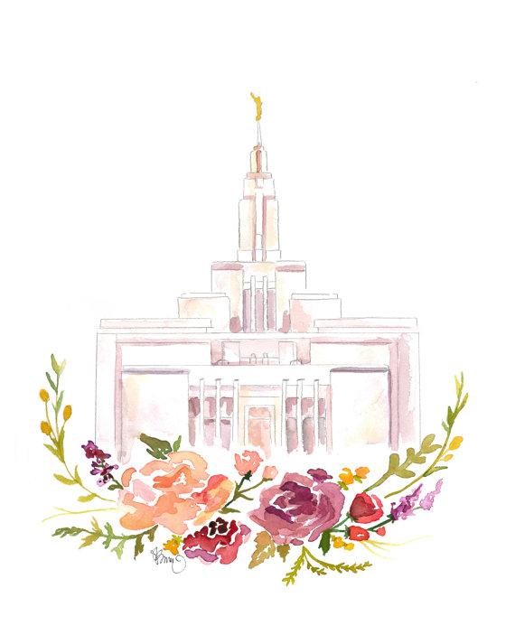Temple clipart draper Draper Temple (Draper) Watercolor Temple