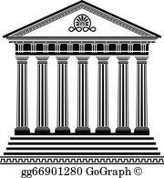 Temple clipart grecian Second  Clip Greek Art