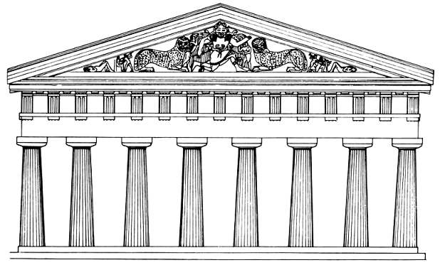 Structure clipart ancient greece building Of Art: the Art west