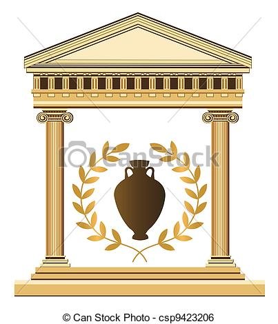 Temple clipart greek art Antique  of of Greek