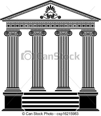 Temple clipart greek art Stencil filigree temple third Greek