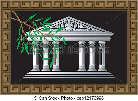 Temple clipart greek art Of vector white Vector Greek