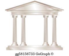 Temple clipart greek pillar Background  Greek Illustration gg59870889
