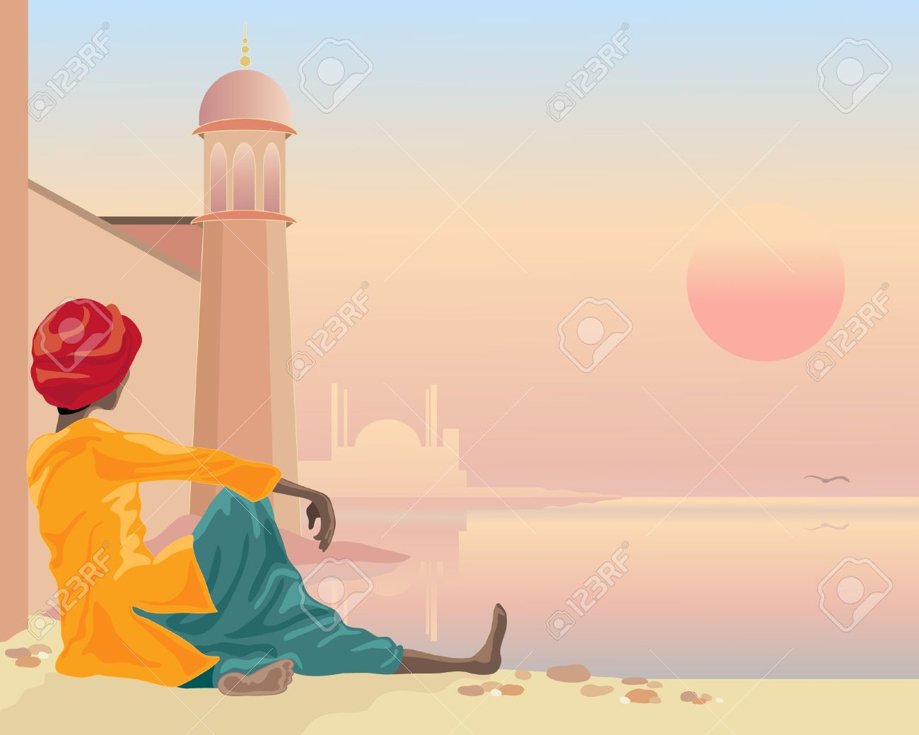 Temple clipart hindu man Holy Hindu Man Hindu cliparts
