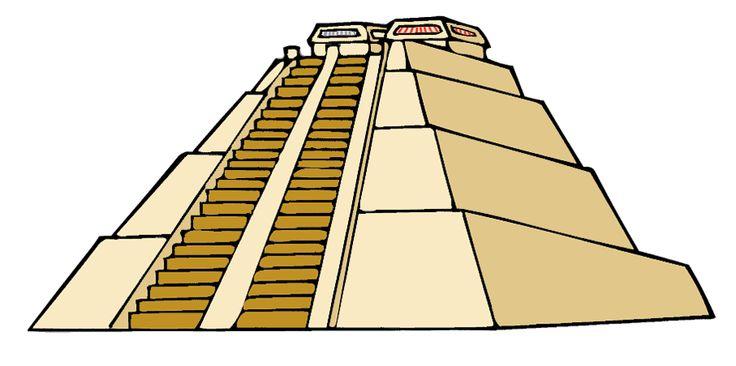 Aztec clipart great pyramid #1