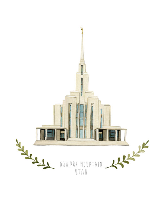 Temple clipart oquirrh mountain Illustration HeatherMettra Oquirrh Utah by