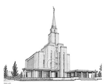 Temple clipart oquirrh mountain File Etsy Oquirrh LDS Oquirrh