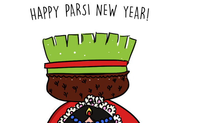 Temple clipart parsi Greeting New And Year New