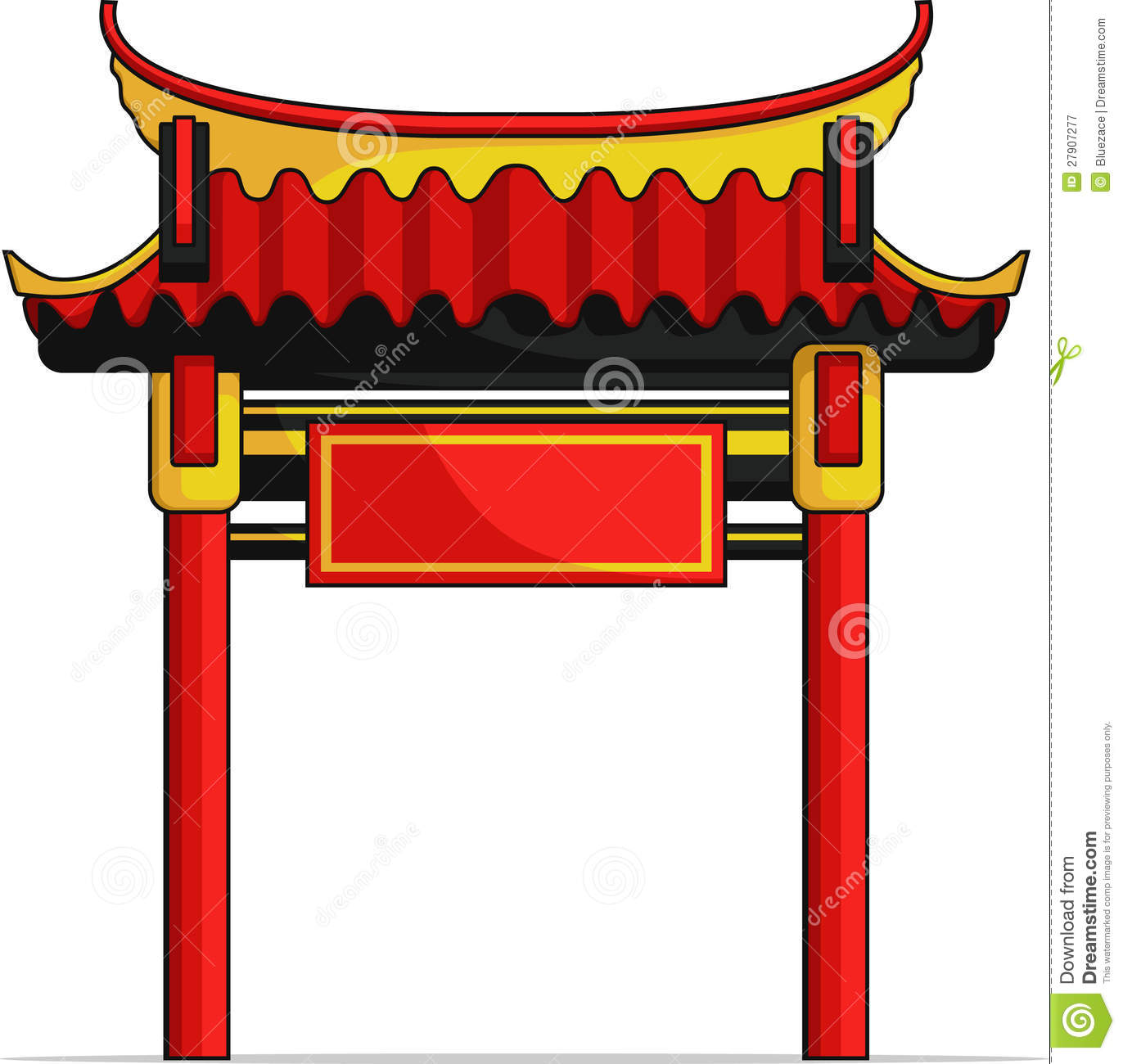 China Town clipart chinese architecture Clipart Stock Gate gate Chinese