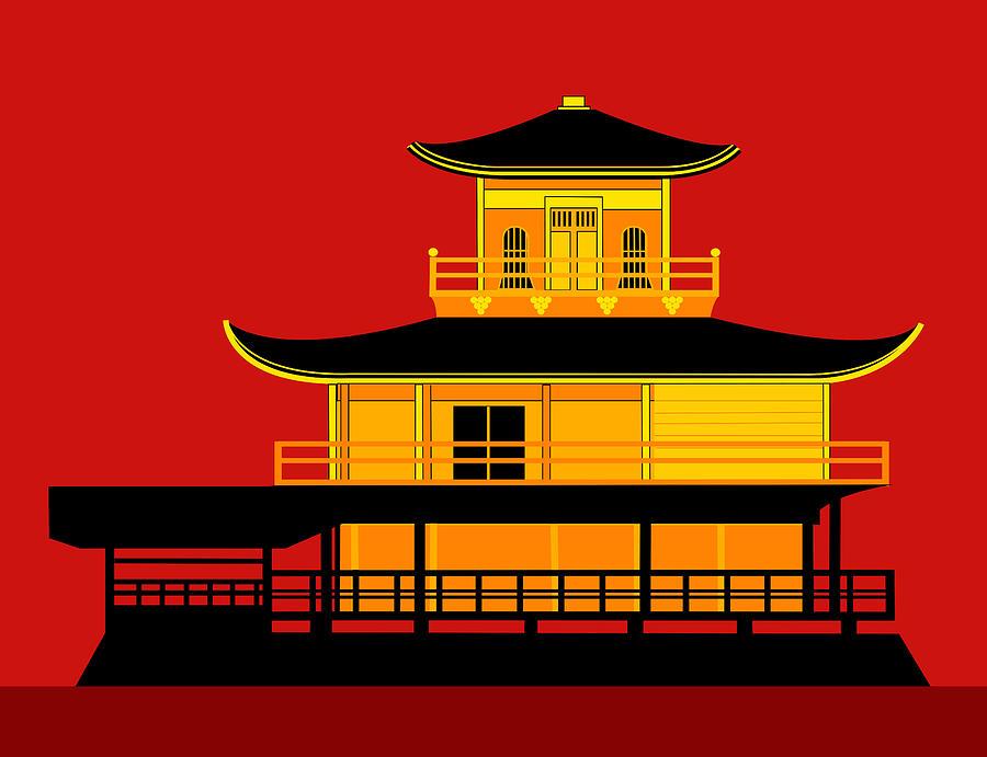 Temple clipart pavilion The Asbjorn Pavilion Japan Art