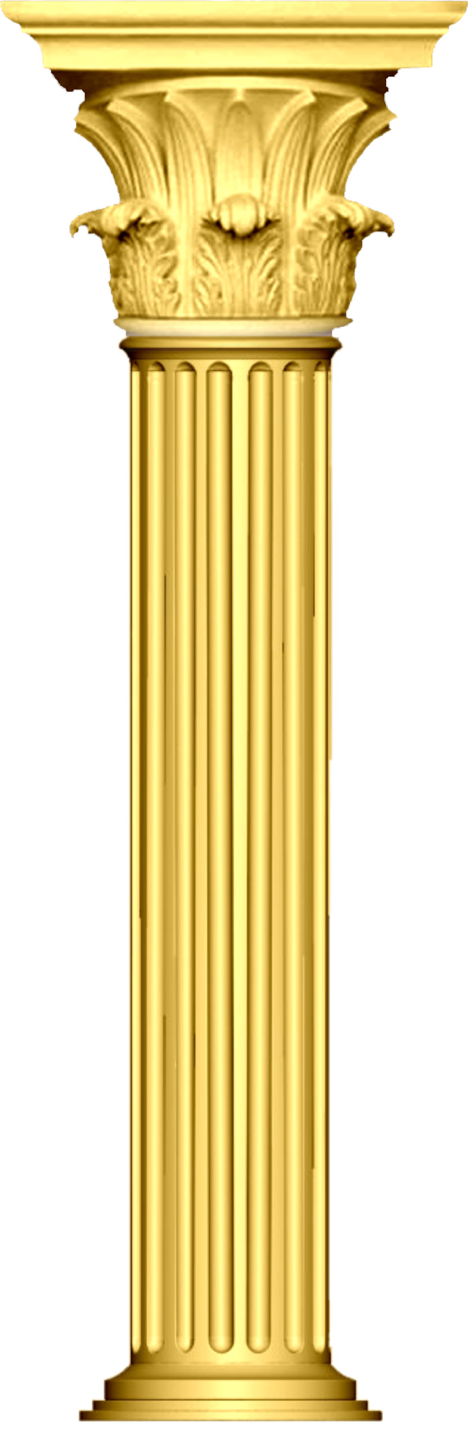 Design this Greek basic pillar