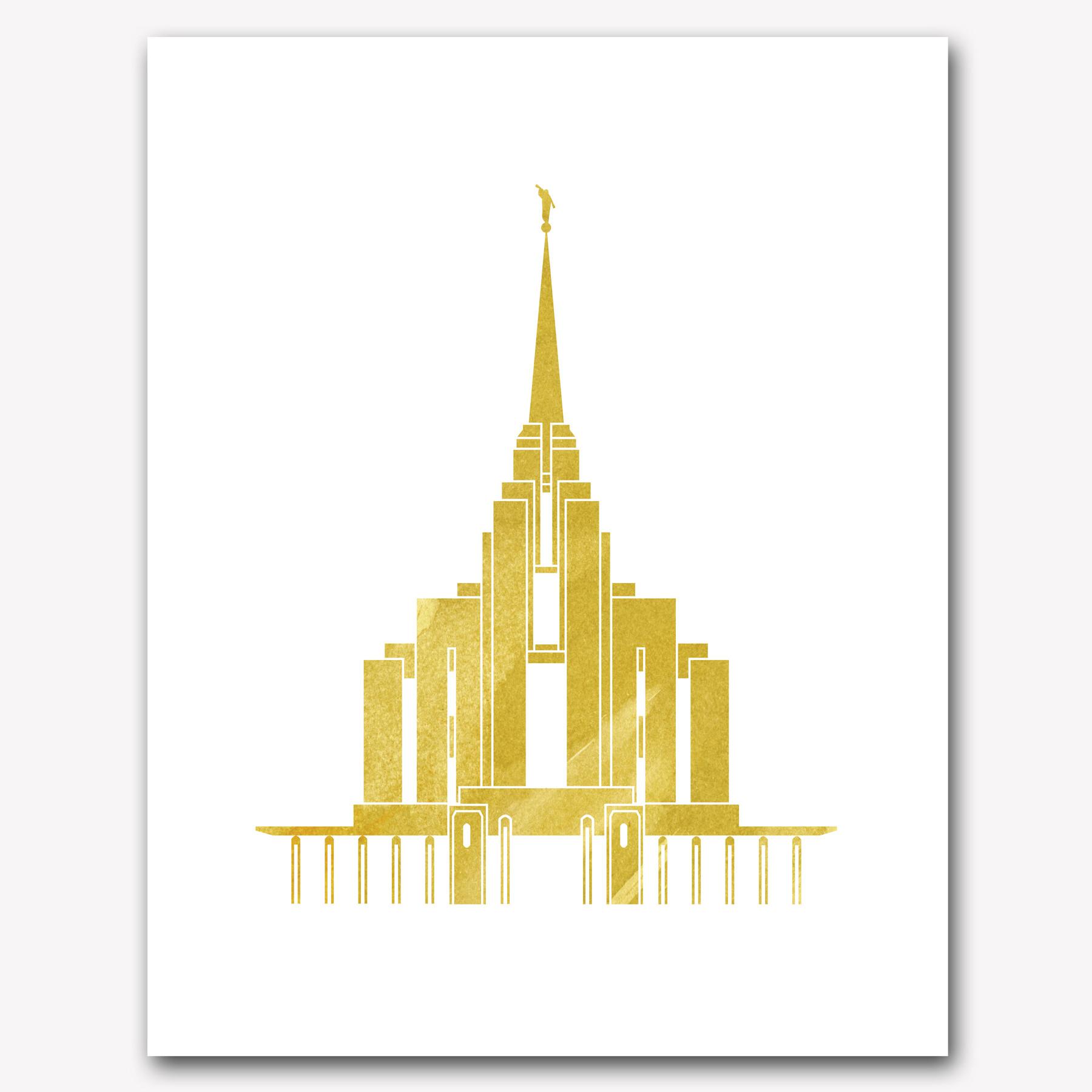 Temple clipart rexburg Yellow Watercolor ID Home Rexburg