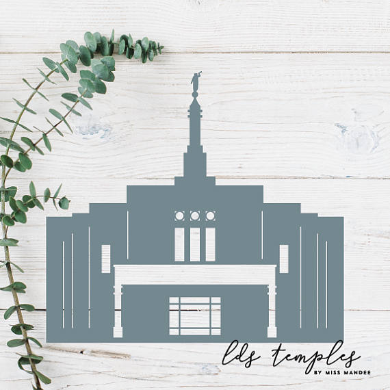 Temple clipart snowflake LDS Arizona Digital Silhouette Cut