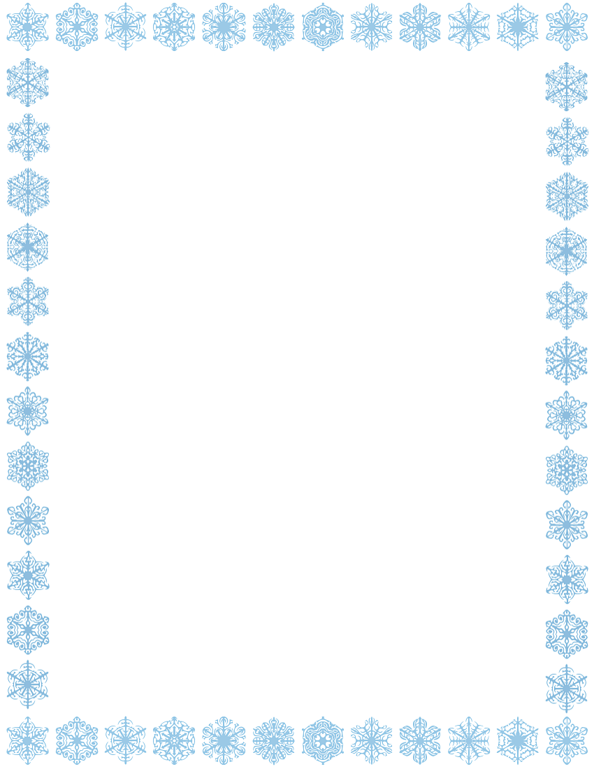 Winter clipart boarder Page Snowflake Art Border Page