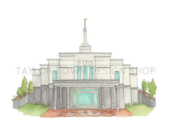 Temple clipart snowflake LDS by 25+ Water Etsy