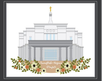 Temple clipart snowflake Lds Lds Arizona Instant printable