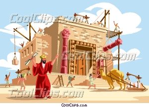 Temple clipart solomons Art Solomon Temple  builds