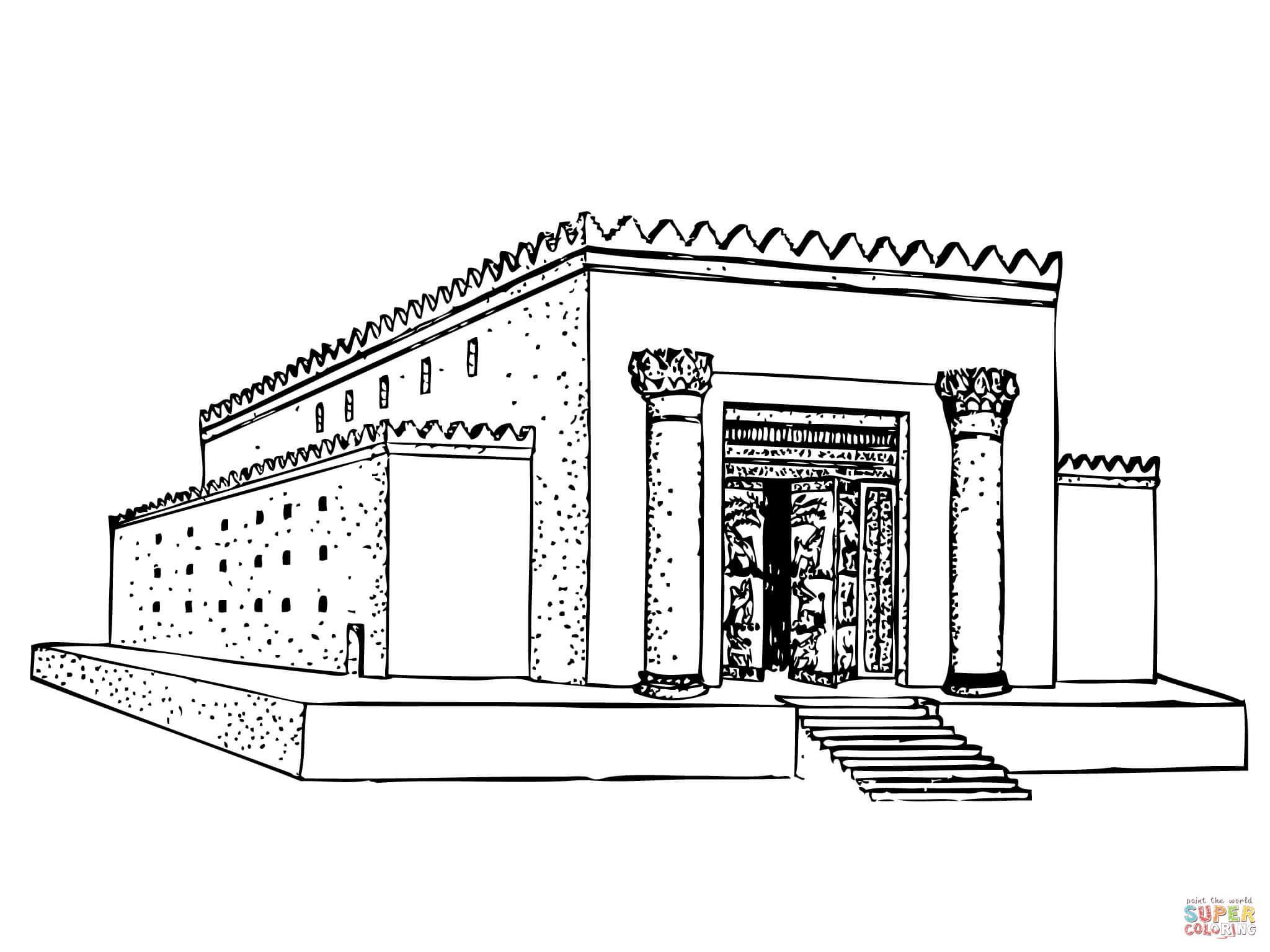 Temple clipart solomons Printable coloring the Solomon Click
