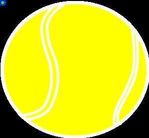Ball clipart yellow  vector Ball Tennis Tennis