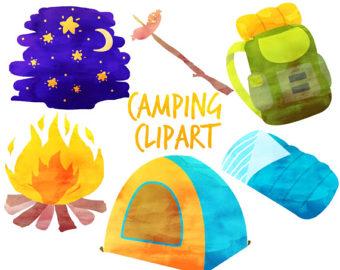 Adventure clipart camping equipment Tent clipart clip art Etsy