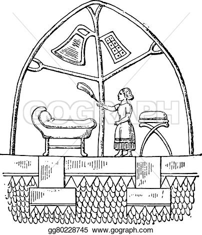 Tent clipart ancient Vector a of engraved life