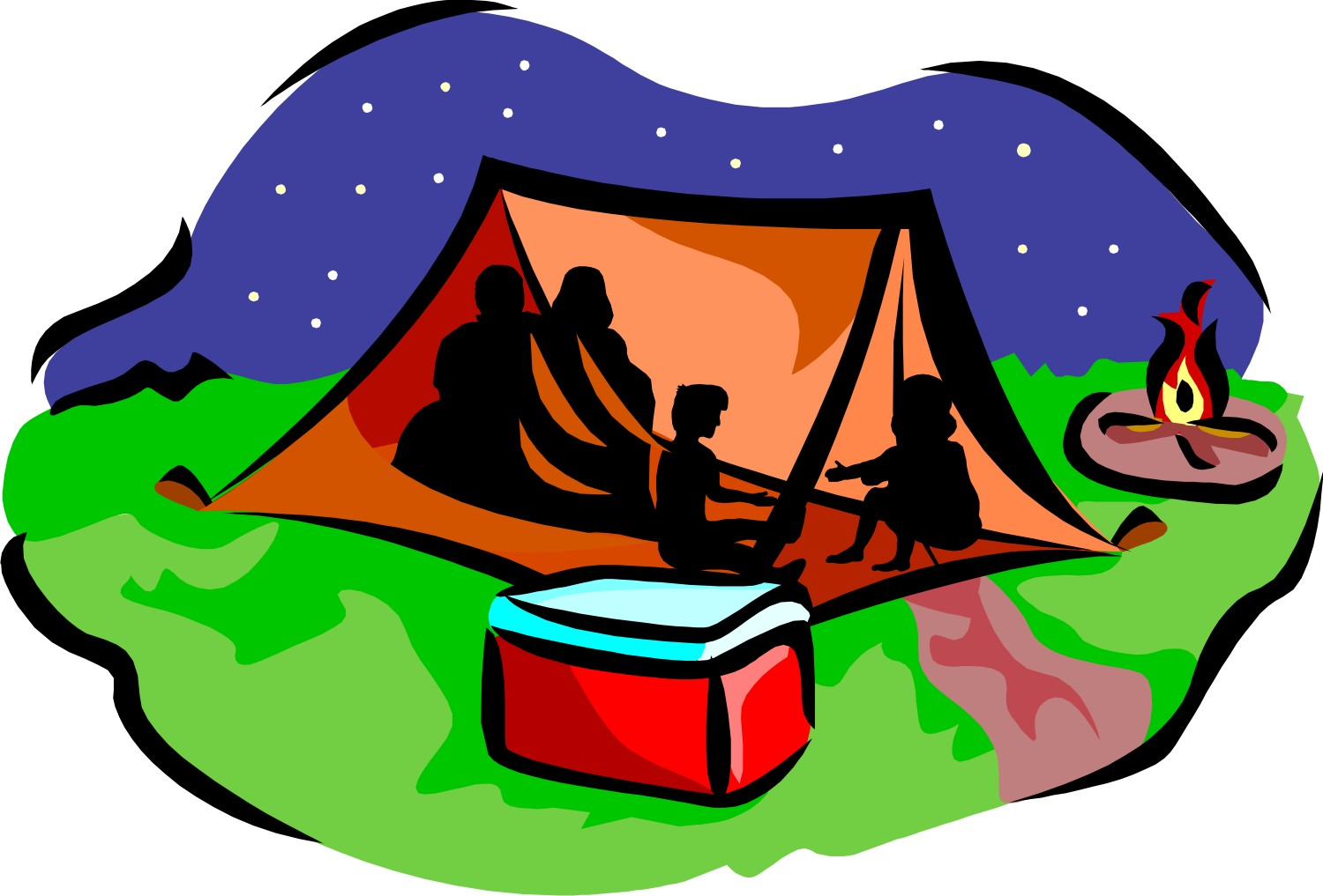 Camper clipart kid campfire Panda Free Clipart Images Tent