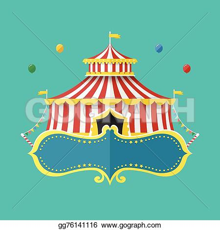 Tent clipart banner Concept EPS Classical banner gg76141116